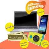 Menangkan hadiah Laptop, Handphone Android, Action Kamera, Voucher Belanja
