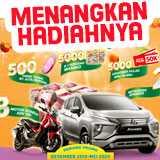 Menangkan hadiah Mobil Mitsubishi Xpander, Motor Honda ADV, Uang Tunai, Voucher