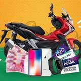 Menangkan hadiah Motor Honda ADV 150cc, iPhone X, Uang Tunai, Smartwatch, Gopay