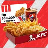 Menangkan hadiah Voucher KFC Senilai Rp 500.000